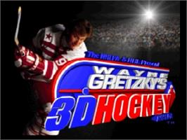 Title screen of Wayne Gretzky's 3D Hockey on the Nintendo N64.