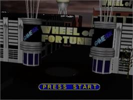 Title screen of Wheel Of Fortune on the Nintendo N64.