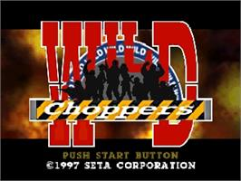 Title screen of Wild Choppers on the Nintendo N64.