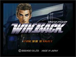 Title screen of WinBack on the Nintendo N64.