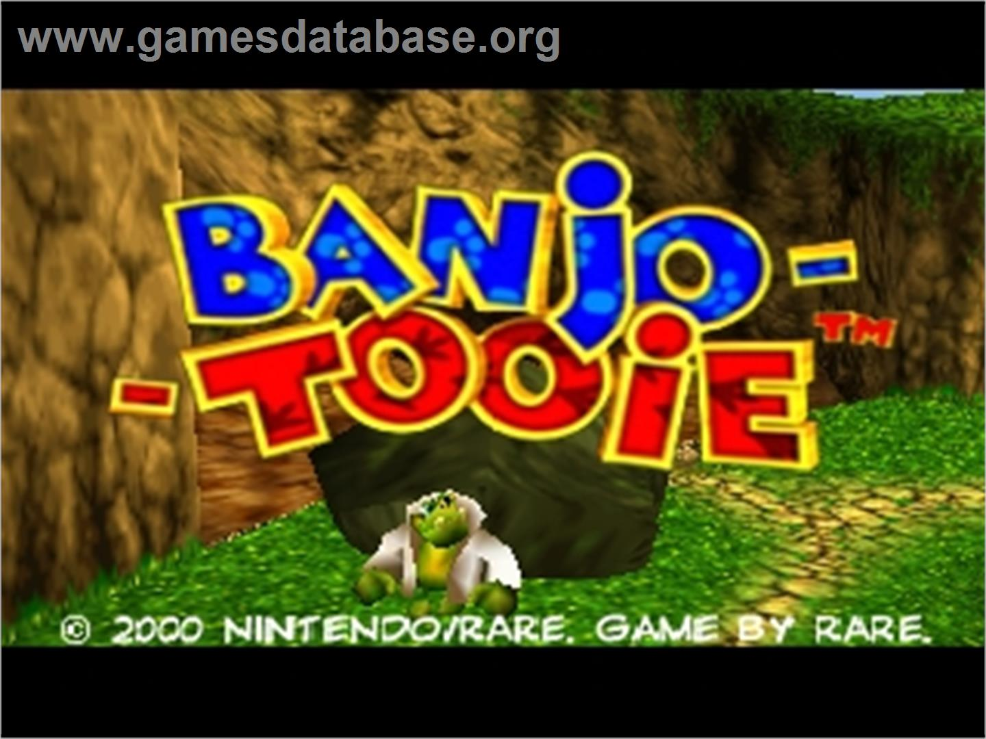 Banjo-Tooie - Nintendo N64 - Artwork - Title Screen