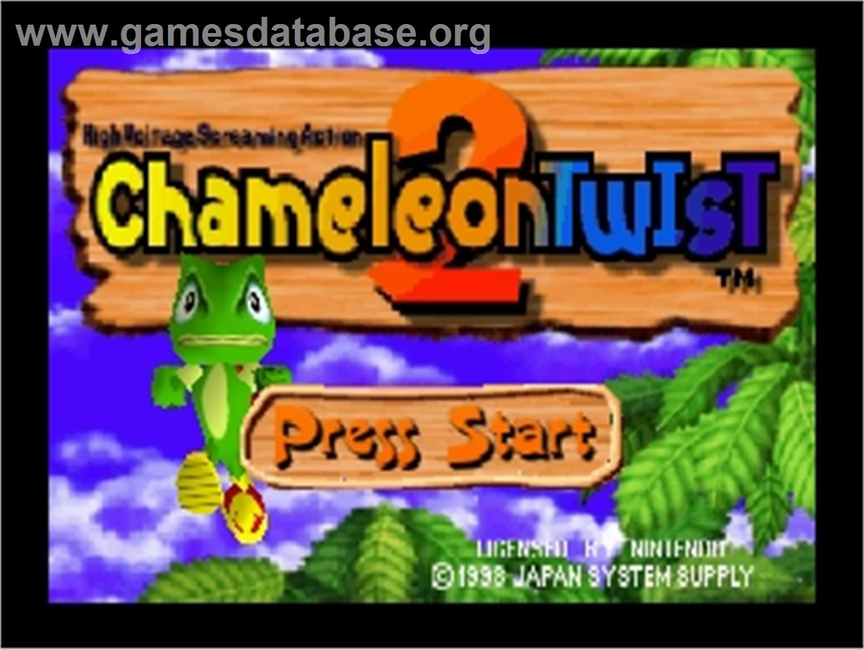 Title screen of Chameleon Twist 2 on the Nintendo N64.
