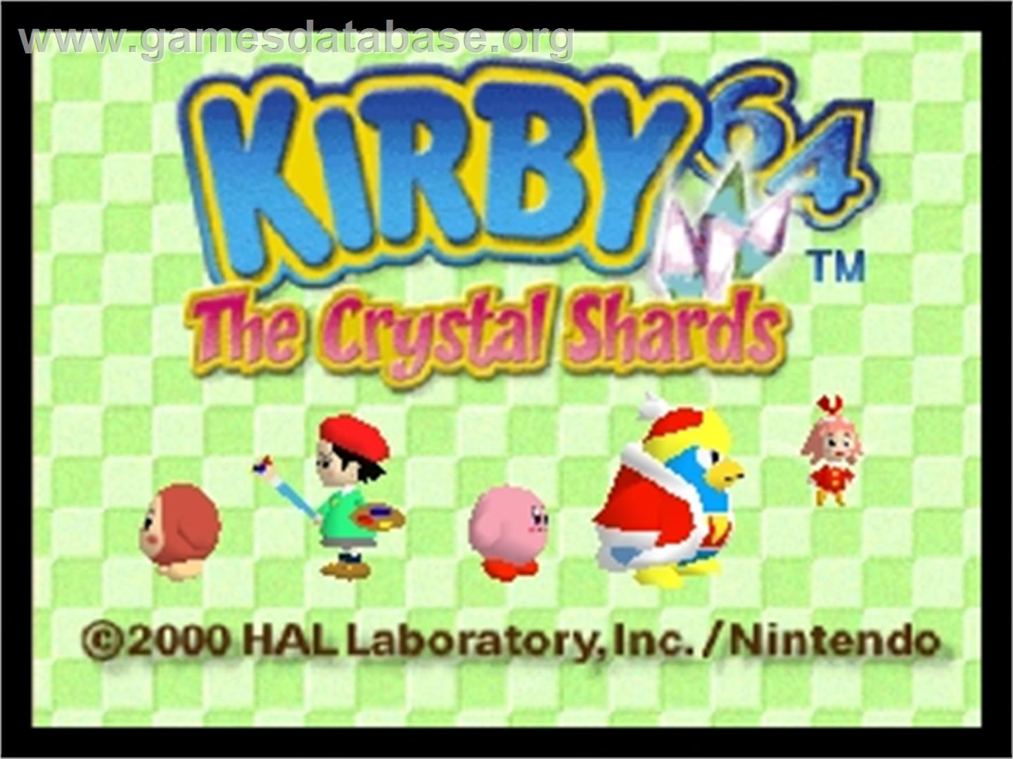Kirby 64: The Crystal Shards - Nintendo N64 - Artwork - Title Screen