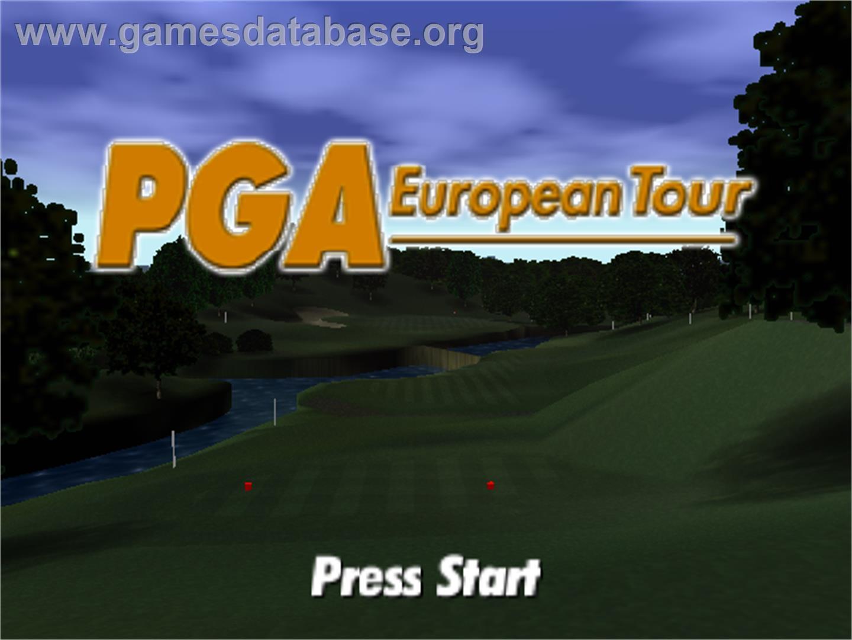 Title screen of PGA European Tour on the Nintendo N64.