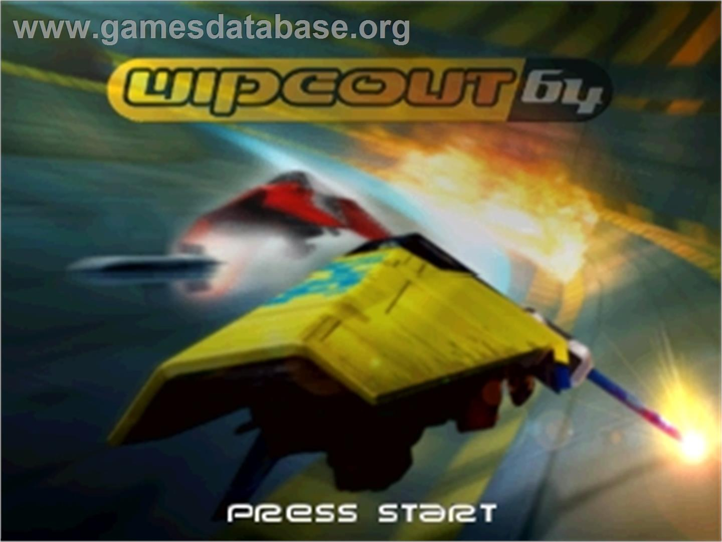 Wipeout 64 - Nintendo N64 - Artwork - Title Screen