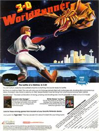 Advert for 3D World Runner on the Nintendo NES.