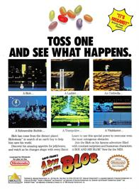 Advert for A Boy and his Blob: Trouble on Blobolonia on the Nintendo NES.