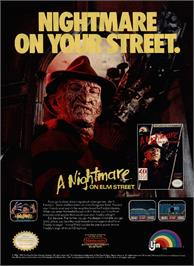 Advert for A Nightmare on Elm Street on the Nintendo NES.