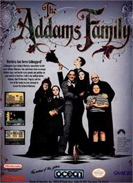 Advert for Addams Family, The on the Nintendo NES.