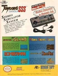 Advert for Adventures of Dino-Riki on the Nintendo NES.