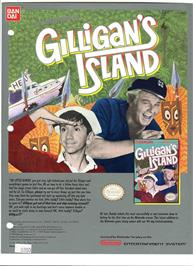 Advert for Adventures of Gilligan's Island on the Nintendo NES.