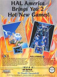 Advert for Adventures of Lolo on the Nintendo Super Gameboy.