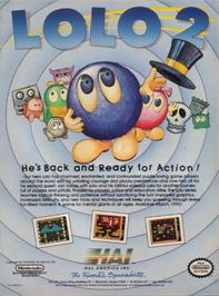 Advert for Adventures of Lolo 2 on the Nintendo NES.