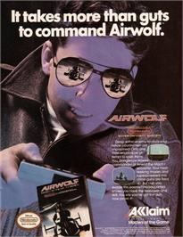 Advert for Airwolf on the Amstrad CPC.