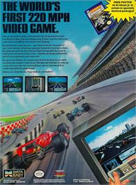 Advert for Al Unser Jr. Turbo Racing on the Nintendo NES.