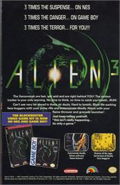 Advert for Alien³ on the Commodore Amiga.