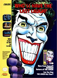 Advert for Batman: Return of the Joker on the Sega Nomad.