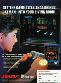 Advert for Batman: The Video Game on the Nintendo NES.