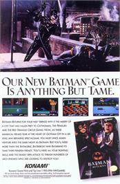 Advert for Batman Returns on the Nintendo NES.