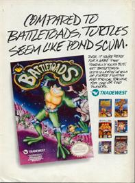 Advert for Battle Toads on the Nintendo NES.