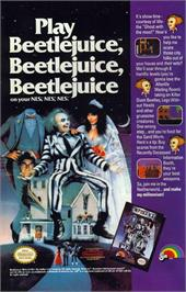 Advert for Beetlejuice on the Nintendo NES.