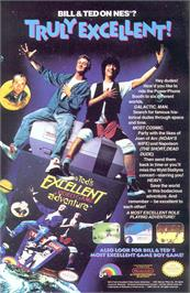 Advert for Bill & Ted's Excellent Adventure on the Nintendo NES.