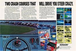 Advert for Bill Elliott's NASCAR Challenge on the Commodore Amiga.