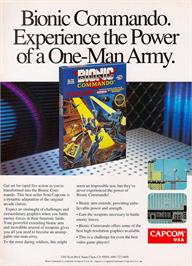 Advert for Bionic Commando on the Nintendo NES.