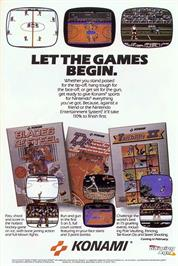 Advert for Blades of Steel on the Nintendo NES.