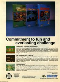 Advert for Bomberman on the Nintendo NES.