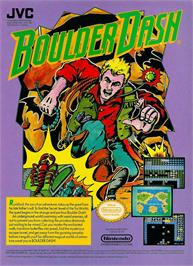 Advert for Boulder Dash on the Nintendo NES.