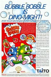 Advert for Bubble Bobble on the Nintendo NES.