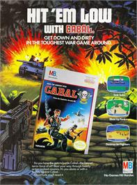 Advert for Cabal on the Nintendo NES.