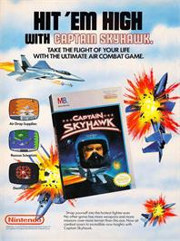 Advert for Captain Sky Hawk on the Nintendo NES.