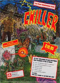 Advert for Chiller on the Amstrad CPC.