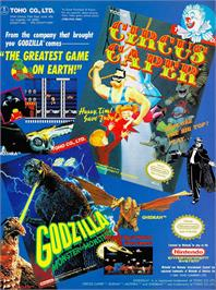 Advert for Circus Caper on the Nintendo NES.