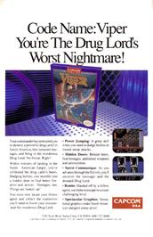 Advert for Code Name: Viper on the Nintendo NES.