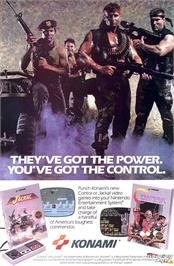 Advert for Contra on the Nintendo NES.