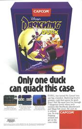 Advert for Darkwing Duck on the Nintendo Game Boy.