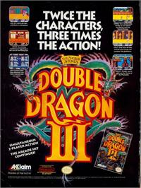 Advert for Double Dragon 3 - The Rosetta Stone on the Nintendo NES.