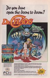 Advert for Dr. Chaos on the Nintendo NES.