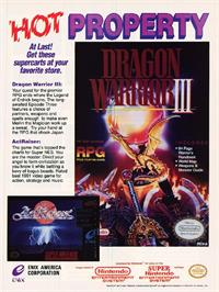 Advert for Dragon Warrior 3 on the Nintendo NES.
