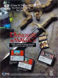 Advert for Dungeon Magic: Sword of the Elements on the Nintendo NES.