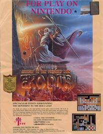 Advert for Exodus: Journey to the Promised Land on the Sega Genesis.