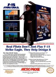 Advert for F-15 Strike Eagle on the Nintendo NES.