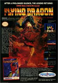 Advert for Flying Dragon: The Secret Scroll on the Nintendo NES.