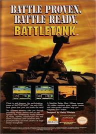 Advert for Garry Kitchen's Battletank on the Nintendo NES.