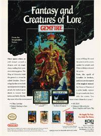 Advert for Gemfire on the Nintendo NES.
