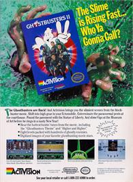 Advert for Ghostbusters 2 on the Nintendo NES.