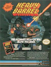 Advert for Heavy Barrel on the Nintendo NES.